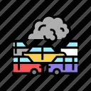 transport, car, smoke, fog, steam, urban