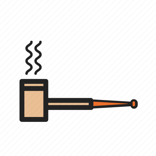 corn, pipe, smoke, smoking, tobacco icon