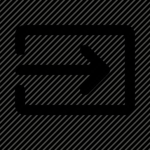 action, arrow, login, move, right icon