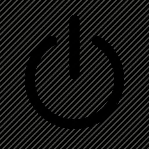 action, off, power, shutdown, start, turn icon
