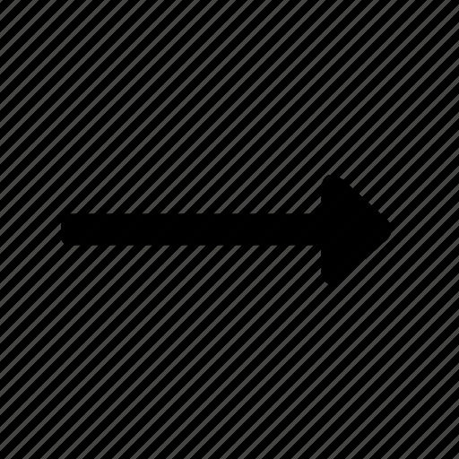action, arrow, next, right, trending icon