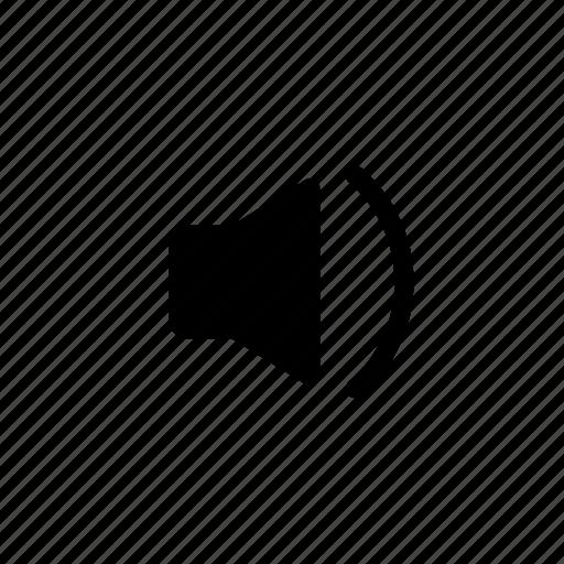 action, down, loudspeaker, sound, volume icon