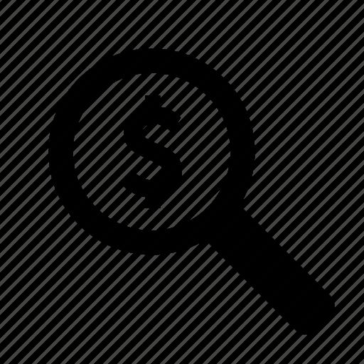 business, find, investigate, money, search, view icon