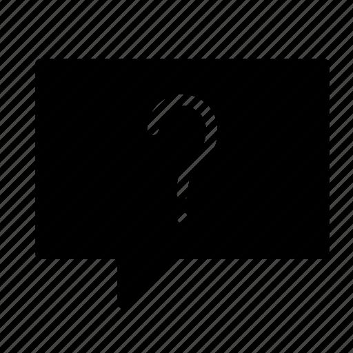 bubble, chat, conversation, message, question, talk icon