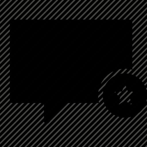 bubble, chat, conversation, favorite, message, star, talk icon