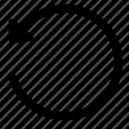 arrow, content, edit, editor, reload, undo icon