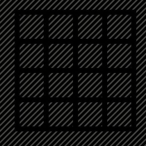 canvas, design, editor, grid, show, table icon