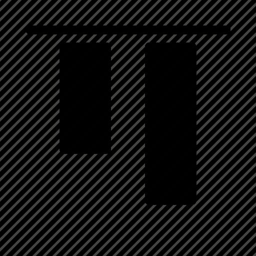 align, arrange, design, graphic, tool, top icon