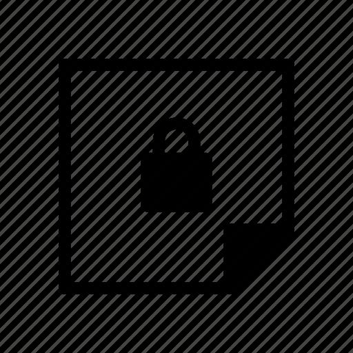 design, graphic, layer, lock, note icon