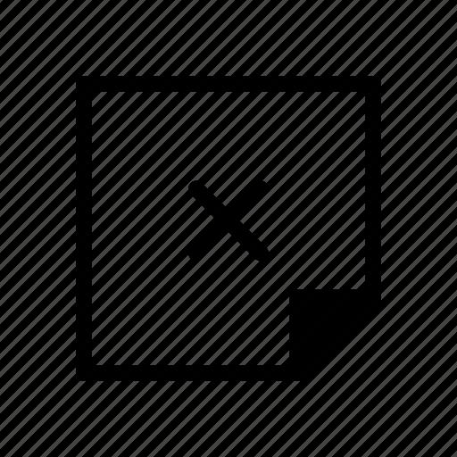 delete, design, graphic, layer, note icon