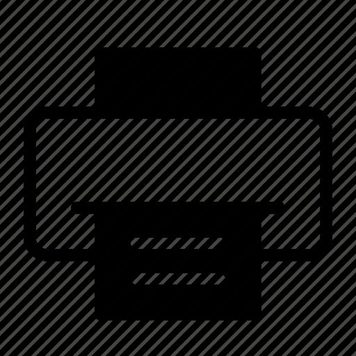 device, document, paper, print, printer icon