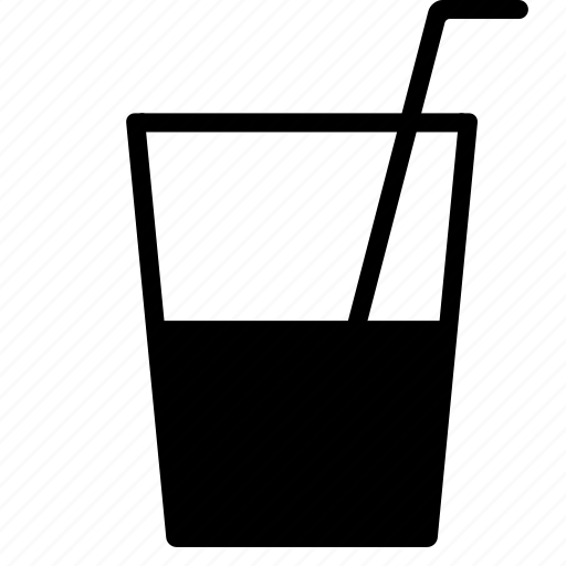 drink, glass, juice, outing, straw, water icon