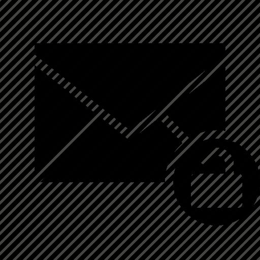 email, envelope, secure, send, unlock icon