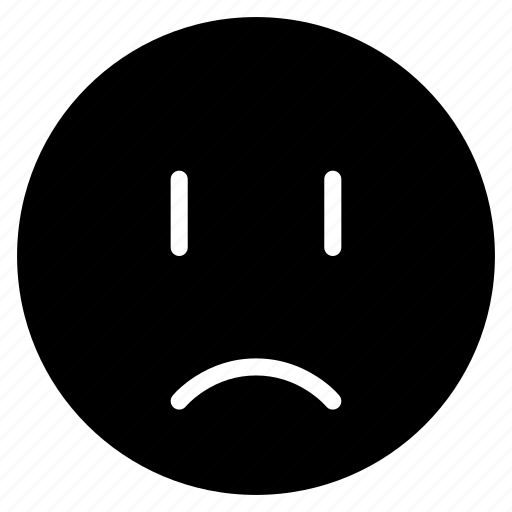 avatar, emoticon, emotion, expression, face, mood, sad icon