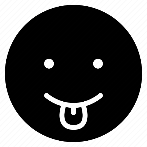 avatar, emoticon, emotion, face, mood, smile, tongue icon