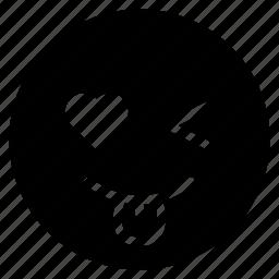 avatar, emoticon, emotion, face, smile, tongue, wink icon