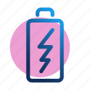 battery, charge, charging, energy, mobile, power icon