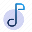 audio, itunes, music, note, play, song icon