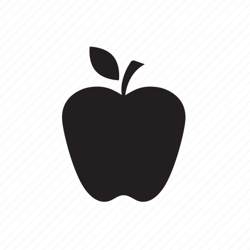 apple, fruit, healthy, snack, time icon