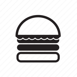 barbecue, cheeseburger, fast, food, hamburger, picnic, sandwich, snack, time icon