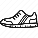 gym shoe, laces, sneaker, sole, striped, tennis shoe, trainer icon