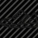 gym shoe, laces, sneaker, sole, striped, tennis shoe, trainer icon
