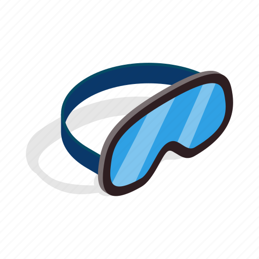 goggle, isometric, mask, ski, snowboarding, sport, winter icon