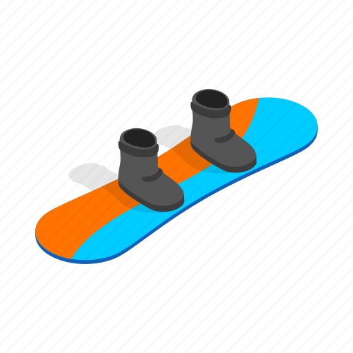 board, boot, extreme, isometric, snowboard, snowboarding, sport icon