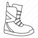 boot, extreme, line, outline, snowboarding, sport, winter icon