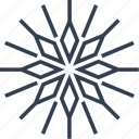 christmas, flake, flower, geometric, holiday, line, lotus, snow, snowflake, style, vintage, winter icon
