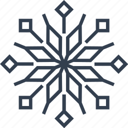 christmas, flake, flower, geometric, holiday, line, lotus, snow, snowflake, vintage, winter icon