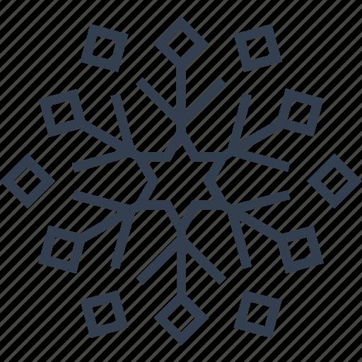 christmas, flake, geometric, holiday, line, snow, snowflake, winter icon