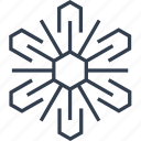 christmas, flake, geometric, hexagon, holiday, line, snow, snowflake, style, winter icon