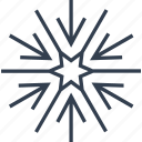 christmas, flake, geometric, holiday, line, snow, snowflake, star, winter icon