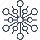 christmas, circle, flake, geometric, holiday, line, snow, snowflake, winter icon