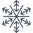 arrow, christmas, flake, geometric, holiday, line, snow, snowflake, winter icon