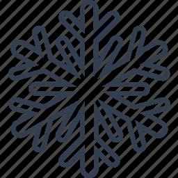 christmas, classic, flake, geometric, holiday, line, snow, snowflake, winter icon