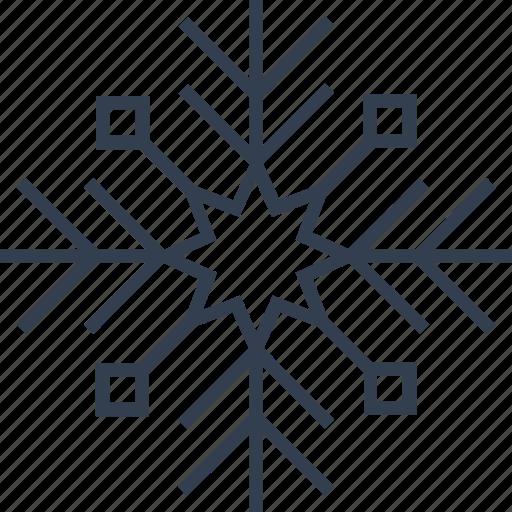 christmas, flake, geometric, holiday, line, snow, snowflake, star, winter icon