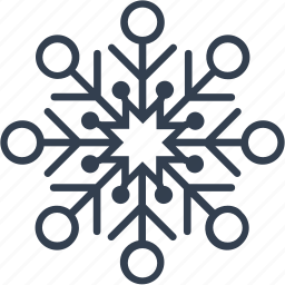 christmas, circle, flake, geometric, holiday, line, snow, snowflake, winter icon