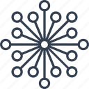 blossom, christmas, circle, flake, geometric, holiday, line, snow, snowflake, winter icon