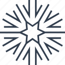 arrow, christmas, flake, geometric, holiday, line, snow, snowflake, star, winter icon