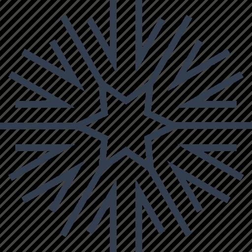 arrow, christmas, flake, geometric, holiday, line, snow, snowflake, star, winter icon