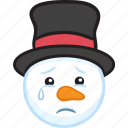 christmas, emoji, emoticon, smiley, snowman, winter icon