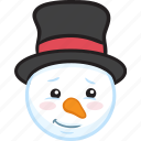 emoticon, snowman, winter, smiley, christmas, emoji