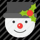 christmas, holiday, ice, snow, snowman, winter, xmas icon