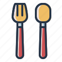food, fork, spoon icon
