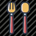 food, fork, spoon