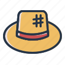 beach, cap, hat, summer, vacation icon