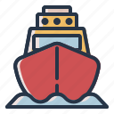 boat, ship, transport, yacht icon