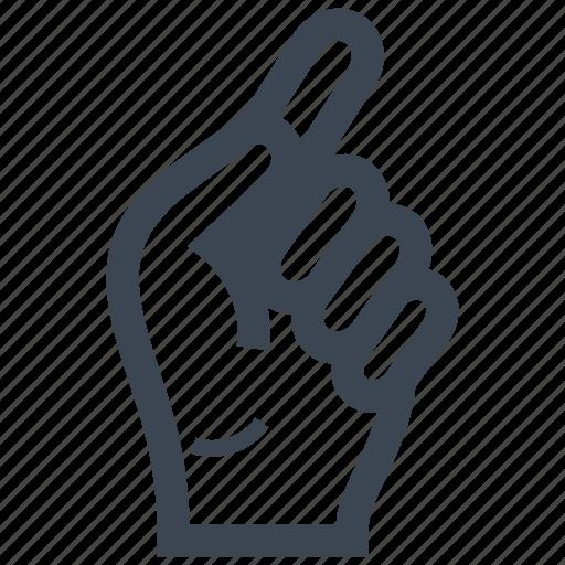 finger, gesture, hand, instruction icon